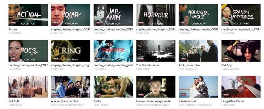 Les films et thématiques de Cine+ Asie sur MyCanal