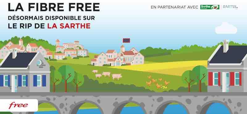 Freebox Fibre sur la Sarthe Numérique