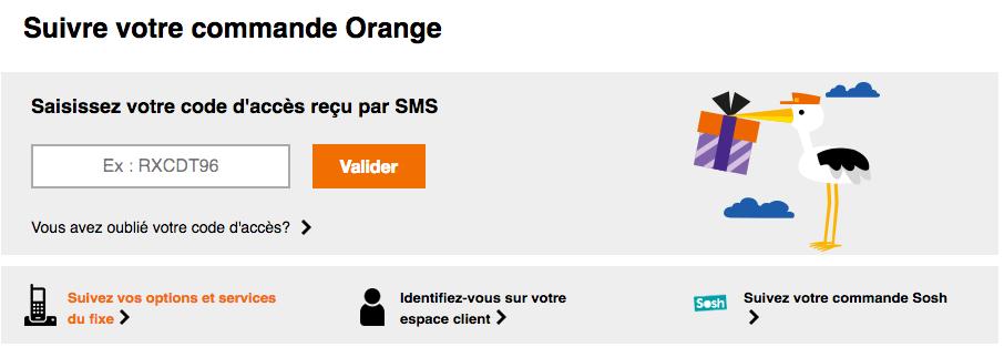 suivre ma commande portable orange