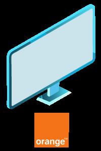television orange